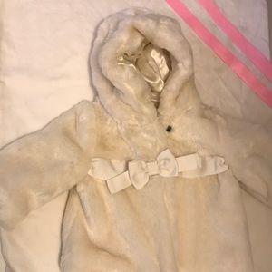 Baby Gap faux fur coat 0-6 months